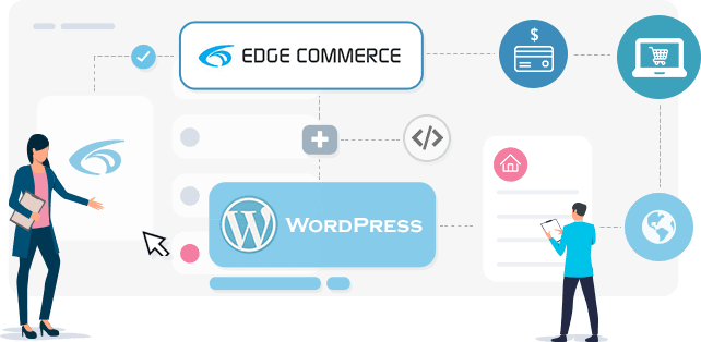 Edge Commerce + Third Party Website (WordPress or others)